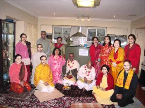 Naam Sankirtan with photos from Gokulananda Temple and  9 days Saptah Sydney