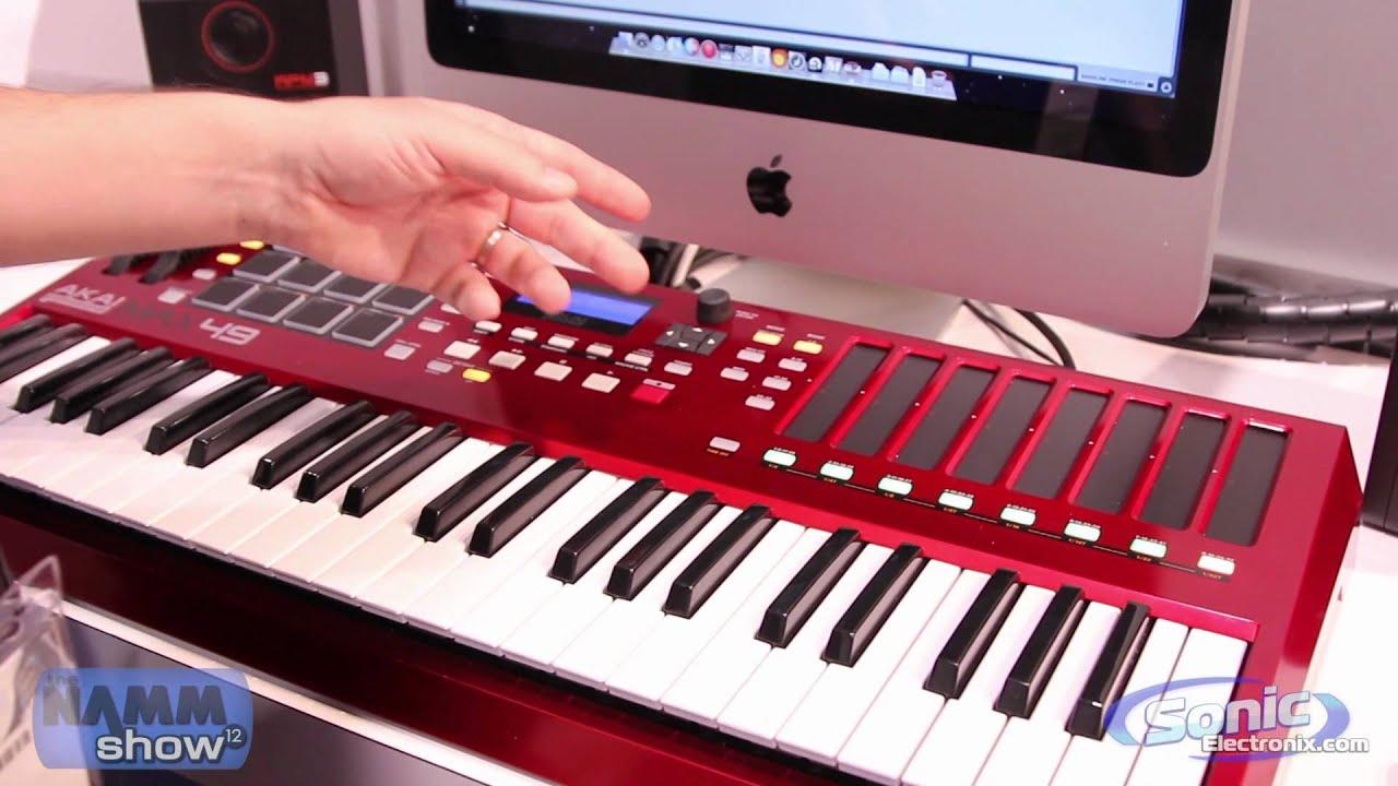 new akai pro max49 usb  midi keyboard controller  winter