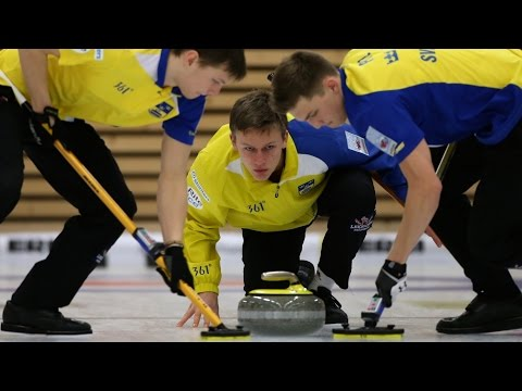 CURLING: CAN-SWE - World Junior Chps 2015 - Men Draw 6