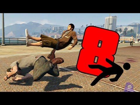 GTA | EPIC FAILS 2.0 | Caidas contra personas a camara lenta | 8