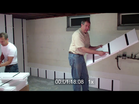 Frame and Insulate a Basement Wall in Under 10 Minutes