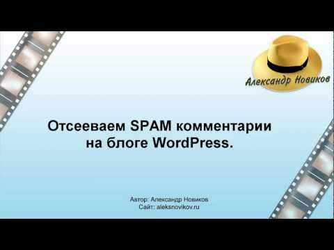 Настраиваем движок WordPress против SPAM комментариев.