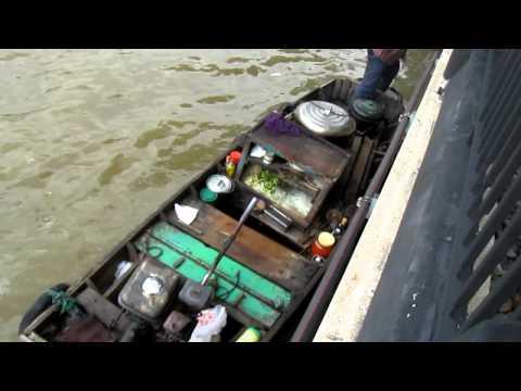 Noodle Boat , Chaopraya River , Bangkok Thailand.