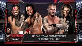 WWE 2K16 Randy Orton,Edge VS Jey Uso,Jimmy Uso In A Elimination Tag Team Match