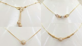 Latest Light weight gold chain necklace with Weight