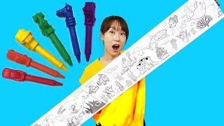 펼쳤다 접었다 원하는대로 색칠해요! 서은이엄마의 디즈니 캐릭터 색칠공부 Disney Coloring Book Paper CraftsㅣJOYPONG