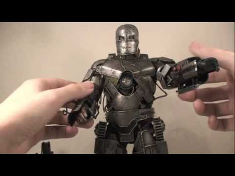 Iron Man Movie Hot Toys Mark I Armor Iron Man 1/6 Scale Collectable Figure Review
