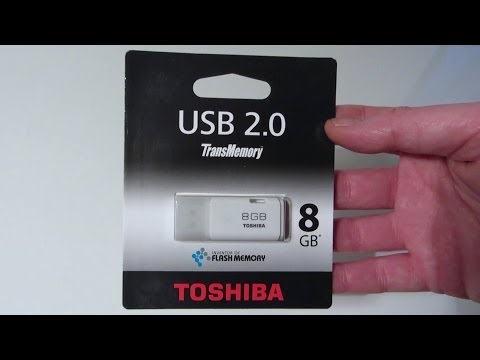 Toshiba Transmemory USB 2.0 Flash Drive Speed Test / Unboxing / Review