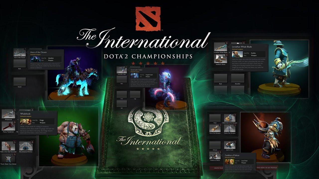 Dota 2 All 5 Immortal International 3 Items Compendium