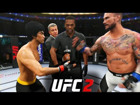EA Sports UFC 2 - Bruce Lee vs CM Punk | EPIC FIGHT!