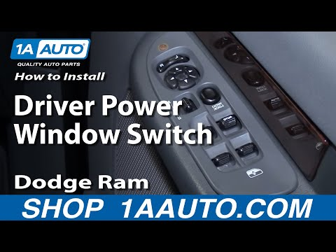 How to Install Repair Replace Driver Power Window Switch Dodge Ram 02-08 1AAuto.