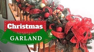 How to Make a Fabulous Christmas Garland   Christmas Decorations   DECORATE WITH ME