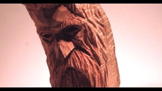 Wood Spirit Woodcarving High Detail intermediate project sycamore wood