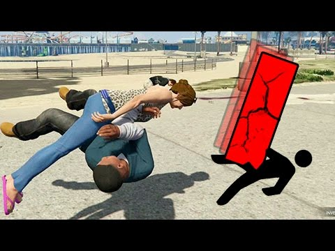 GTA | EPIC FAILS 2.0 | Caidas contra personas a camara lenta | 1