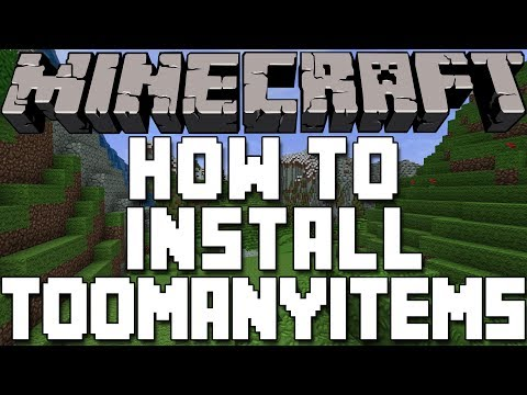 How To Install TooManyItems In Minecraft 1.7.9
