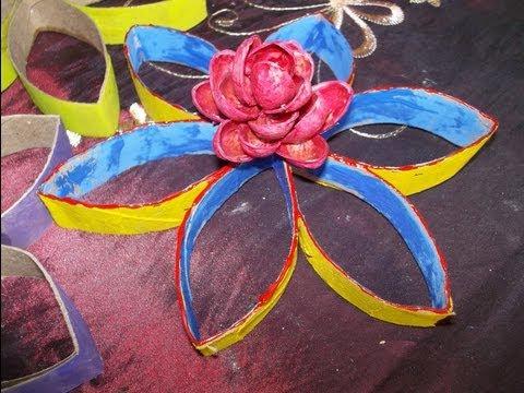 flores, tubo papel higiénico