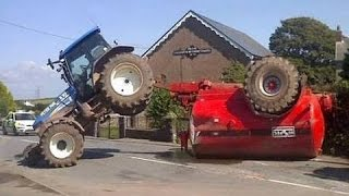 #3 TOP 10 Tractors  Crash Fail Funny  December 2015 NEW THE BEST Terrible Compilation