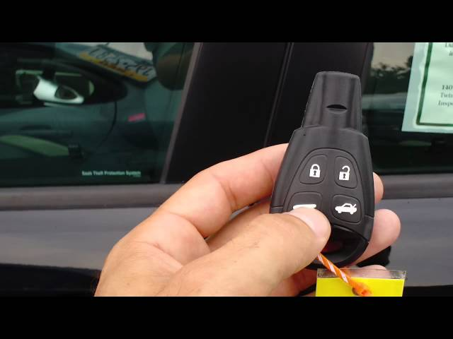 HOW TO USE THE KEY LESS ENTRY SYSTEM ON A SAAB - YouTube
