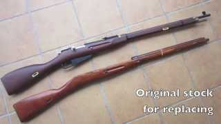 Custom build Airsoft mosin Nagant ( Red Fire Mosin Nagant )