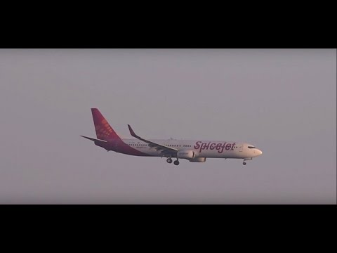 Incredible Uninterrupted 2 Spicejet Boeing 737-800 Landings at CSIA, Mumbai, India !!!!
