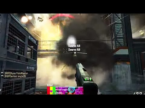INSANE BO2 HACKER SHOOTS SWARMS OUT OF PISTOL!!! @DavidVonderhaar @Treyarch