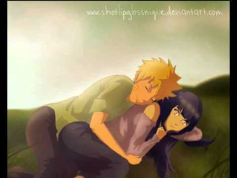Naruto & Hinata Kiss from a rose
