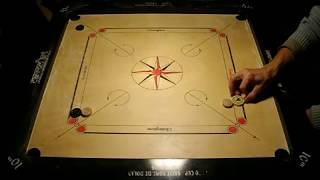 Carrom Tricks, How to play bomb shots with comments.