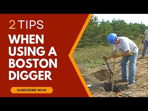 2 tips when using a Boston Digger post hole digger