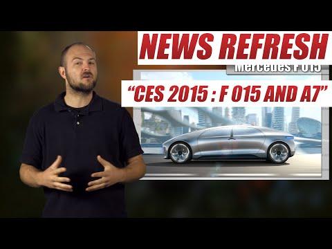 Mercedes F 015 Concept and Autonomous Audi A7 - Consumer Electronics Show 2015
