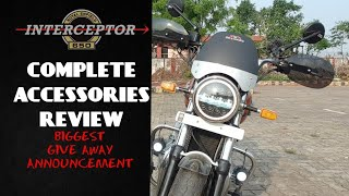 ACCESSORIES FOR ROYAL ENFIELD INTERCEPTOR 650CC | DETAILED REVIEW | BIGGEST GIVEAWAY ANNOUNCEMENT