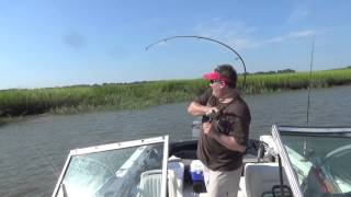 20140901 Redfish Breaking Rod with Michael Shaw
