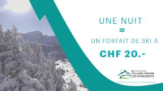 1 nuit = 1 forfait de ski à CHF 20.-