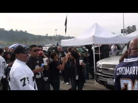 Oakland Raiders Tailgating Before the charger game 12-5-10