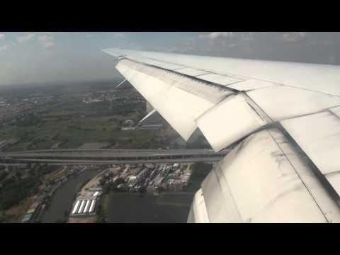 Boeing 777 Thai Airways Landing at Bangkok International Airport