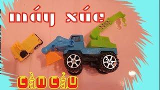 Trò chơi máy xúc máy cẩu và xe tải 🚛 chơi cùng bé