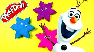 FROZEN OLAF SNOWFLAKES – Surprise Eggs Play Doh Disney Cars 2 Dora the Explorer Lalaloopsy