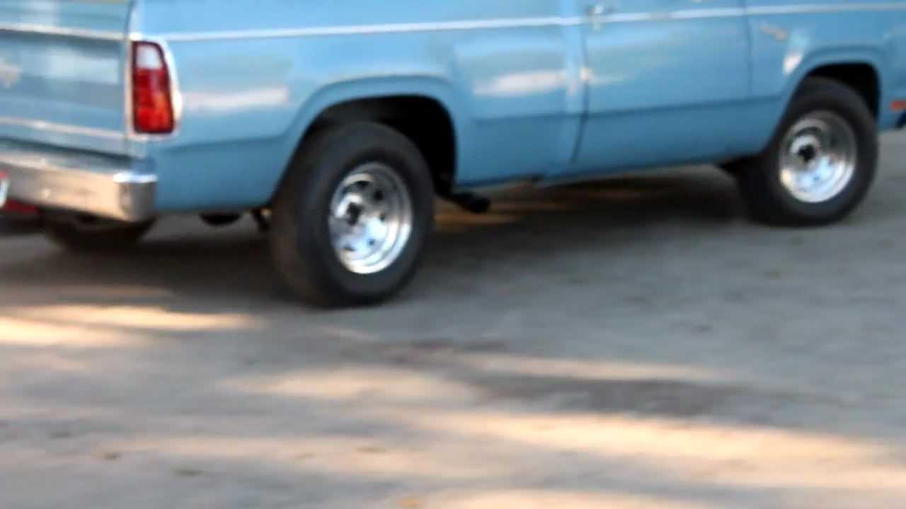 1978 Dodge D100 440 Exhaust Youtube