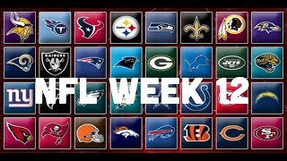 NFL Week 12 Picks & Predictions 2018 | 2019