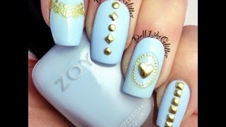Born Pretty Store Studded Nail Tutorial and Review