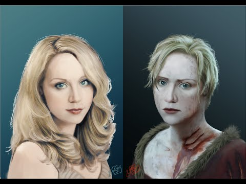 Gwendoline Christie to Brienne of Tarth Digital Painting
