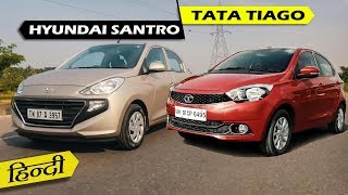 2018 Hyundai Santro vs Tata Tiago - Detailed Comparison | ICN Studio