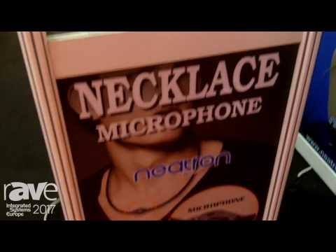 ISE 2017: Cotina Introduces Necklace Microphone