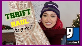 Try On Thrift Haul (Goodwill) | CraftyAmy