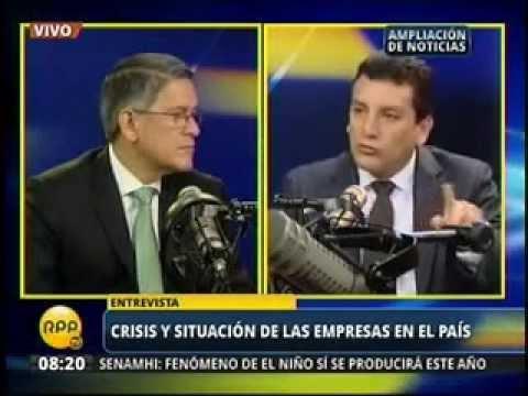 Martín Pérez Monteverde, presidente de la CONFIEP en RPP Noticias