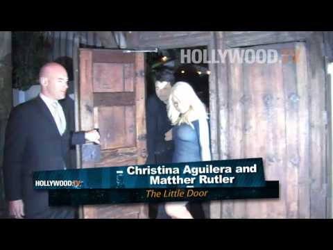 Christina Aguilera and Matthew Rutler leaving The Little Door