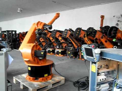 Used industrial robot Kuka KR30L15/2 control KR C2 at www.eurobots.net