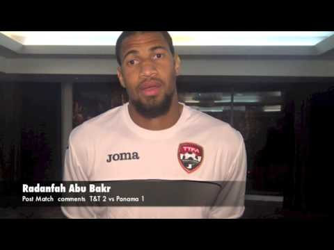 Post Match Interview with Radanfah Abu Bakr - T&T   2 vs Panama 1