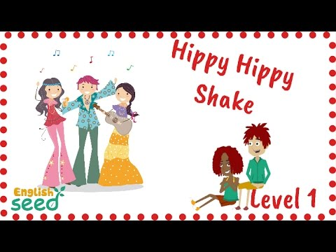 Hippy Hippy Shake - Do like animals do - Children song with Flashcards - English Seed - Level 1