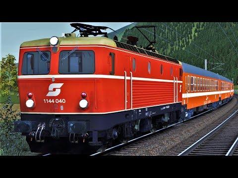 Let's Play Train Simulator 2018 | ÖBB 1144 EC164 Transalpin | St.Anton am Arlberg - Feldkirch