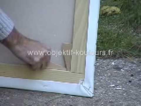 tutoriel peinture tendre la toile sur le chassi youtube. Black Bedroom Furniture Sets. Home Design Ideas